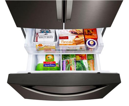 Organisation dans le tiroir de congélation d'un réfrigérateur