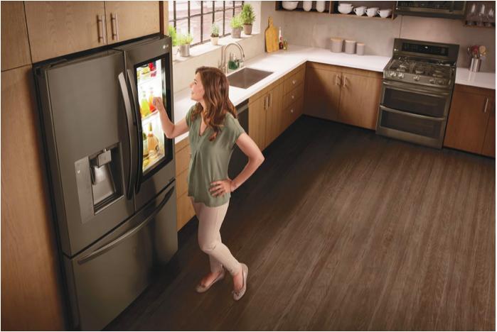 Un réfrigérateur à fonctionnalité intégrée
