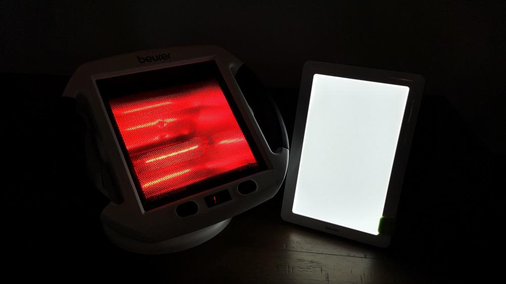 Beurer luminothérapie et diffuseur infrarouge