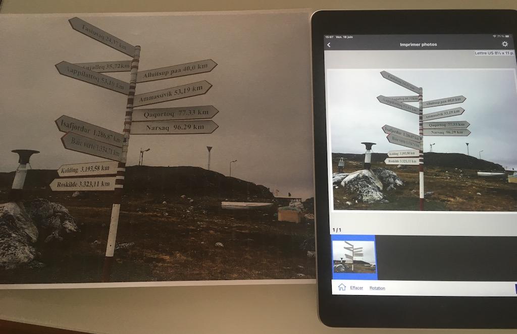 On peut aisément imprimer documents et photos à partir d'un appareil mobile.