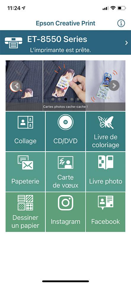 Image of Epson Creative Application on iOS