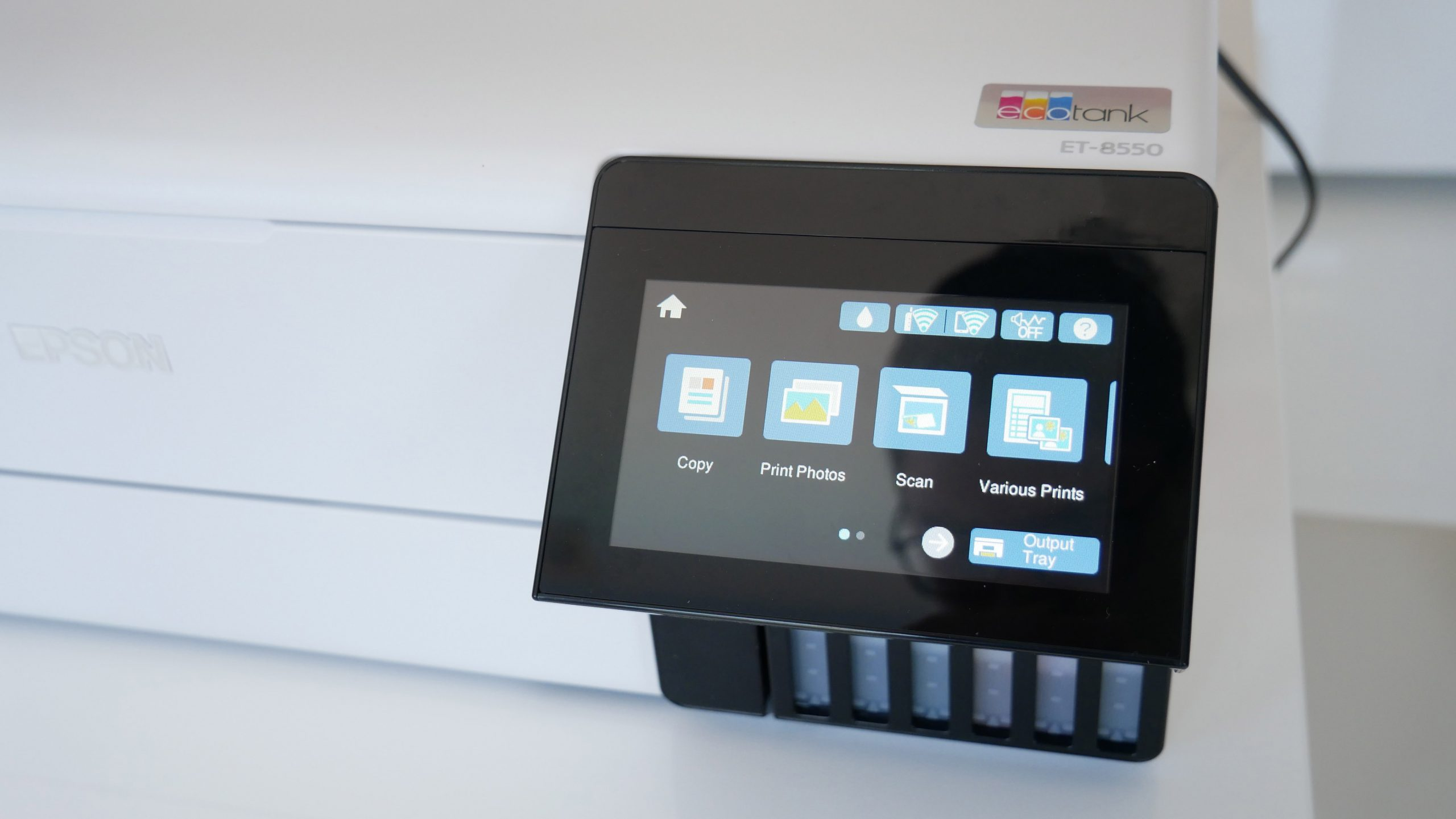 Image of EcoTank Photo ET-8550 touchscreen