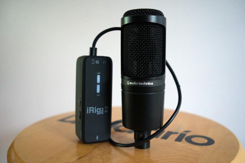 iRig 2 Pre fonctionne avec les micros conventionnels