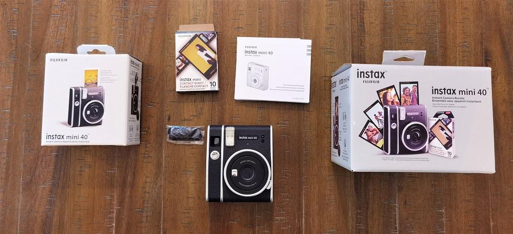 boite Instax Mini 40 de Fujifilm