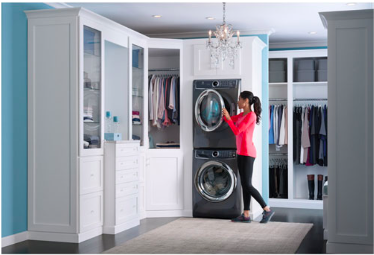 Ensemble laveuse-sécheuse à haute efficacité