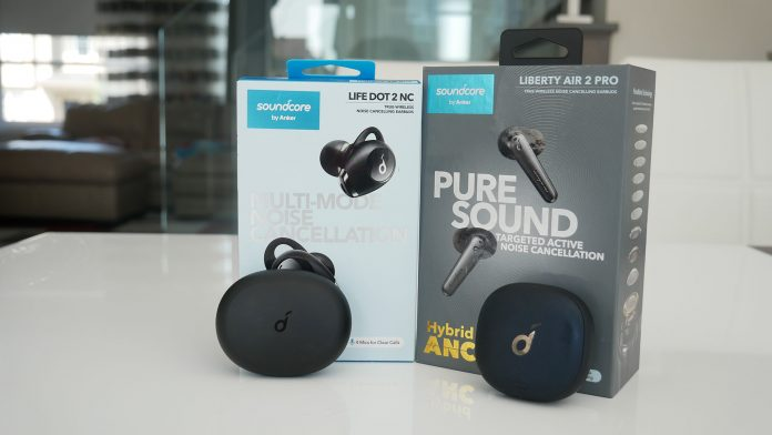 Image of Liberty Air Pro and Life Dot earbuds from Soundcore