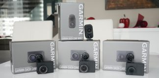 Image of all Garmin dashcam on table