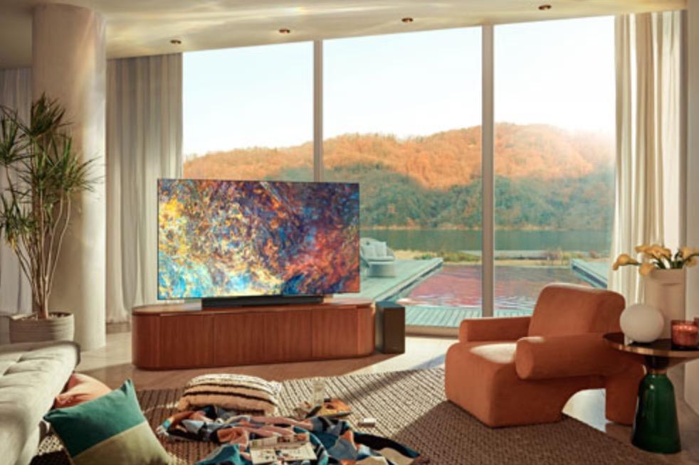 Téléviseur dans un salon